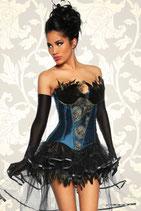Burlesque-Corsage 12788 blau