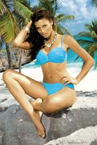 Bandeau Bikini M122 blau von MARKO