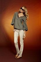 APART  Jeans  mit Schlangenprint