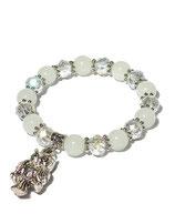 Armband, weiss von Madame Butterfly