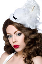 Mini-Hut / Fascinator 12339 weiss