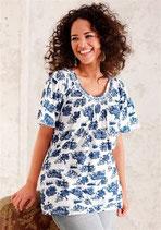 Shirt weiss-blau von New Style