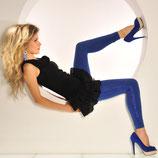 Leggings mit Spitze  blau