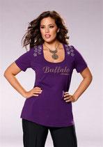Top lila mit Aufschrift und Nieten von Buffalo