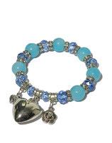 Armband, blau von Madame Butterfly