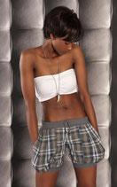 SeXy Pump Hotpants mit Karo Muster grau