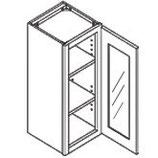 36″ TALL WALL CABINET - 1 Glass Door