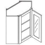 Corner Wall Cabinet - GLASS DOOR