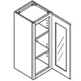 30″ TALL WALL CABINET - 1 Glass Door