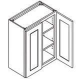 36″ TALL WALL CABINET - 2 Doors