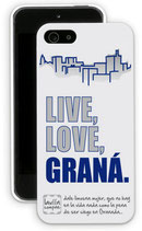 Carcasa de móvil 'live, love, Graná'