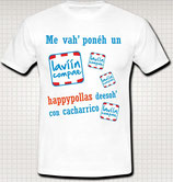 CAMISETA BLANCA 'HAPPY'