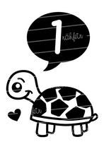 Babyshirt | Schildkröte 1 Jahr