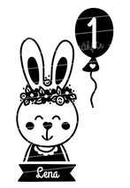 Geburtstag Langarmshirt mit Namen | Hase