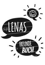 Freundebuch Tasche mit Namen | Sprechblasen