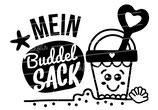"""Turnbeutel """"Mein Buddelsack"""" Mädchen"""