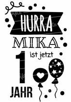 Geburtstagsshirt mit Namen | Hurra