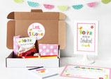 Einschulungsbox | bunte Buchstaben in Pink