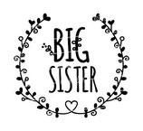 Geschwister Kollektion | Langarmshirt | Blumenranke big sister
