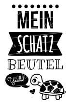 """Turnbeutel """"Mein Schatzbeutel"""" Schildkröte"""