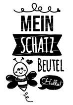 """Turnbeutel """"Mein Schatzbeutel"""" Biene"""