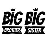 Geschwister Kollektion | Hoodie | Krone big brother | big sister