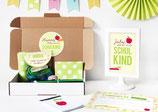 Einschulungsbox | Buchstabensalat in Grün