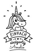 """Turnbeutel mit Namen """"Einhorn"""""""