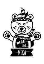 Geburtstagsshirt mit Namen | Wild One Teddy