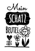 """Turnbeutel """"Mein Schatzbeutel"""" Blume"""