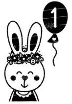 Geburtstag Langarmshirt | Hase