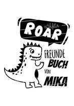 Freundebuch Tasche mit Namen | Dino