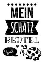 """Turnbeutel """"Mein Schatzbeutel"""" Marienkäfer"""