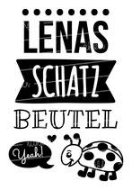 """Turnbeutel """"Mein Schatzbeutel"""" Marienkäfer & Namen"""