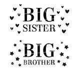 Geschwister Kollektion | Hoodie | Herzen big sister | Sterne big brother