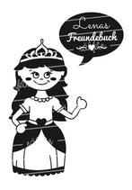 Freundebuch Tasche mit Namen | Prinzessin