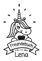Freundebuch Tasche mit Namen | Einhorn