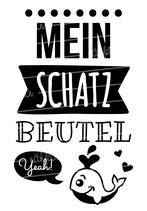 """Turnbeutel """"Mein Schatzbeutel"""" Wal"""