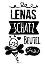 "Turnbeutel ""Mein Schatzbeutel"" Biene & Namen"