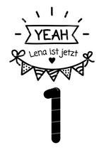 Geburtstag Langarmshirt mit Namen | Yeah