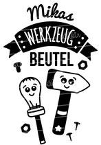 """Turnbeutel """"Mein Werkzeugbeutel"""" & Namen"""