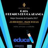 Entrada para la Gala de los Premios EDUCA. Mejor Docente de España 2017