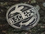 Gürtelschnalle BSC Bündner Schweisshunde Club Neusilber