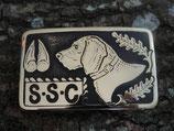 Gürtelschnalle SSC Schweizerischen Schweisshund-Club Messing
