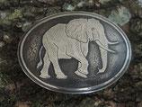 Gürtelschnalle Elefant Neusilber