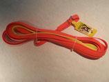 Heim-Schweissriemen Biothane orange, gelbes Ende 19mm breit, 10m lang