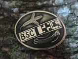Gürtelschnalle BSC Bündner Schweisshunde Club Messing