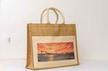 Jute Shopper Tasche   mit Motiv Skyline Kiel