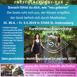 Di. 30.4. – Fr. 3.5.2019 ENTSCHLACKUNGSKUR in 37444 St. Andreasberg