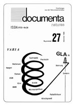 Documenta naturae, Band 27